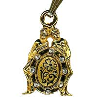 Damascene Gold Gemini the Twins Zodiac Pendant on Chain Necklace by Midas of Toledo Spain style 5408